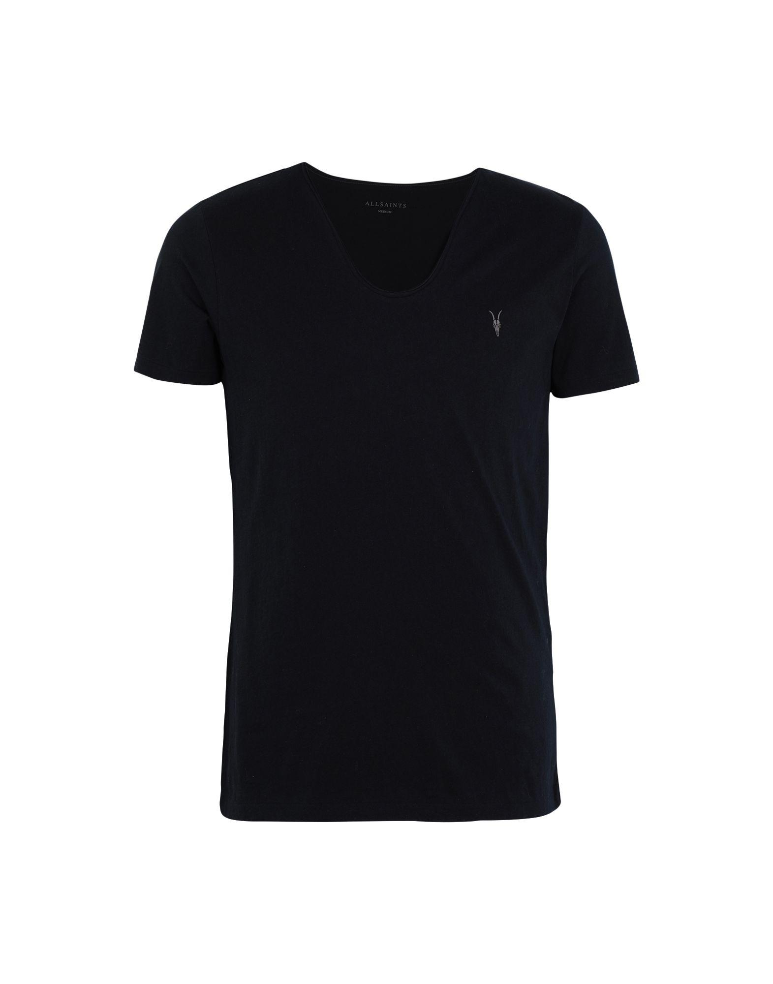 《セール開催中》ALLSAINTS メンズ T シャツ ダークブルー S コットン 100% TONIC SCOOP