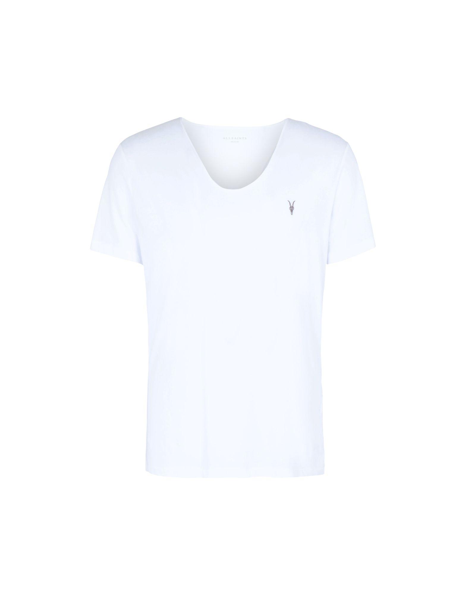 《セール開催中》ALLSAINTS メンズ T シャツ ホワイト M コットン 100% TONIC SCOOP