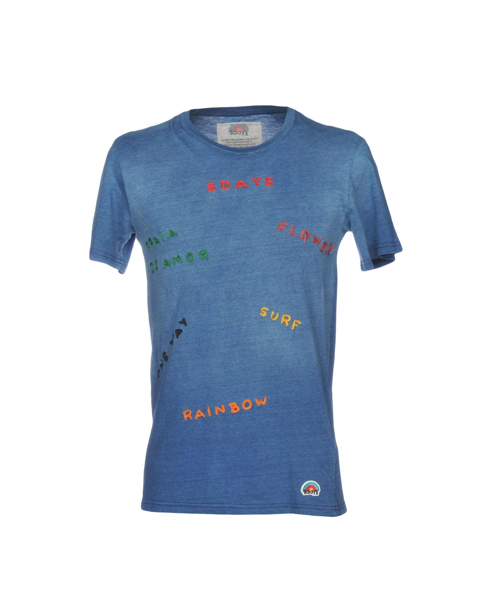 《送料無料》SDAYS メンズ T シャツ ブルー XS コットン 100%