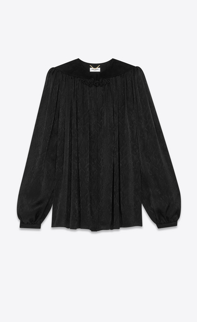 SAINT LAURENT Tops and Blouses Woman silk jacquard cape blouse a_V4