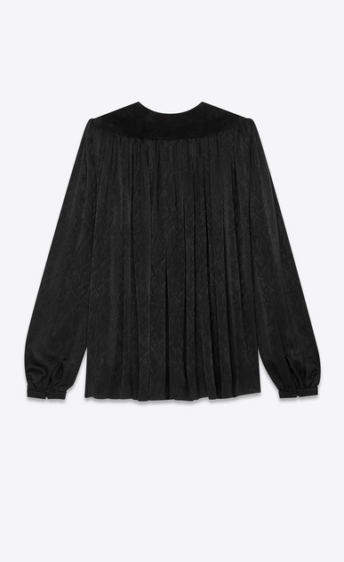 SAINT LAURENT Tops and Blouses Woman silk jacquard cape blouse b_V4
