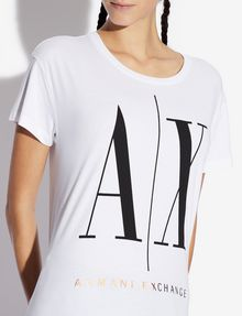 ARMANI EXCHANGE ICON T-SHIRT GOLD SIGNATURE WITH LOGO 1991 Logo T-shirt [*** pickupInStoreShipping_info ***] b