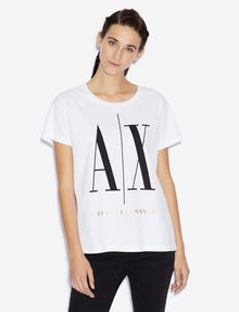 ARMANI EXCHANGE ICON T-SHIRT GOLD SIGNATURE WITH LOGO 1991 Logo T-shirt [*** pickupInStoreShipping_info ***] f