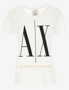 ARMANI EXCHANGE ICON T-SHIRT GOLD SIGNATURE WITH LOGO 1991 Logo T-shirt [*** pickupInStoreShipping_info ***] r