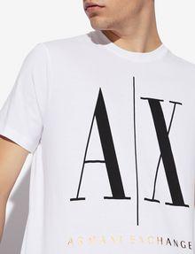 ARMANI EXCHANGE ICON T-SHIRT GOLD SIGNATURE WITH LOGO 1991 Logo T-shirt [*** pickupInStoreShippingNotGuaranteed_info ***] b
