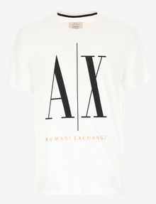 ARMANI EXCHANGE ICON T-SHIRT GOLD SIGNATURE WITH LOGO 1991 Logo T-shirt [*** pickupInStoreShippingNotGuaranteed_info ***] r