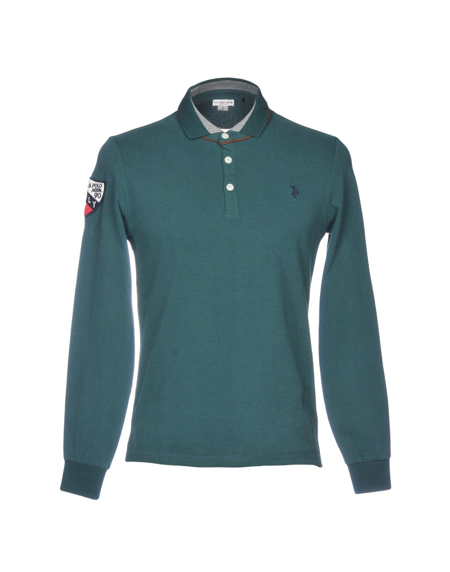 《送料無料》U.S.POLO ASSN. メンズ ポロシャツ グリーン S コットン 100%