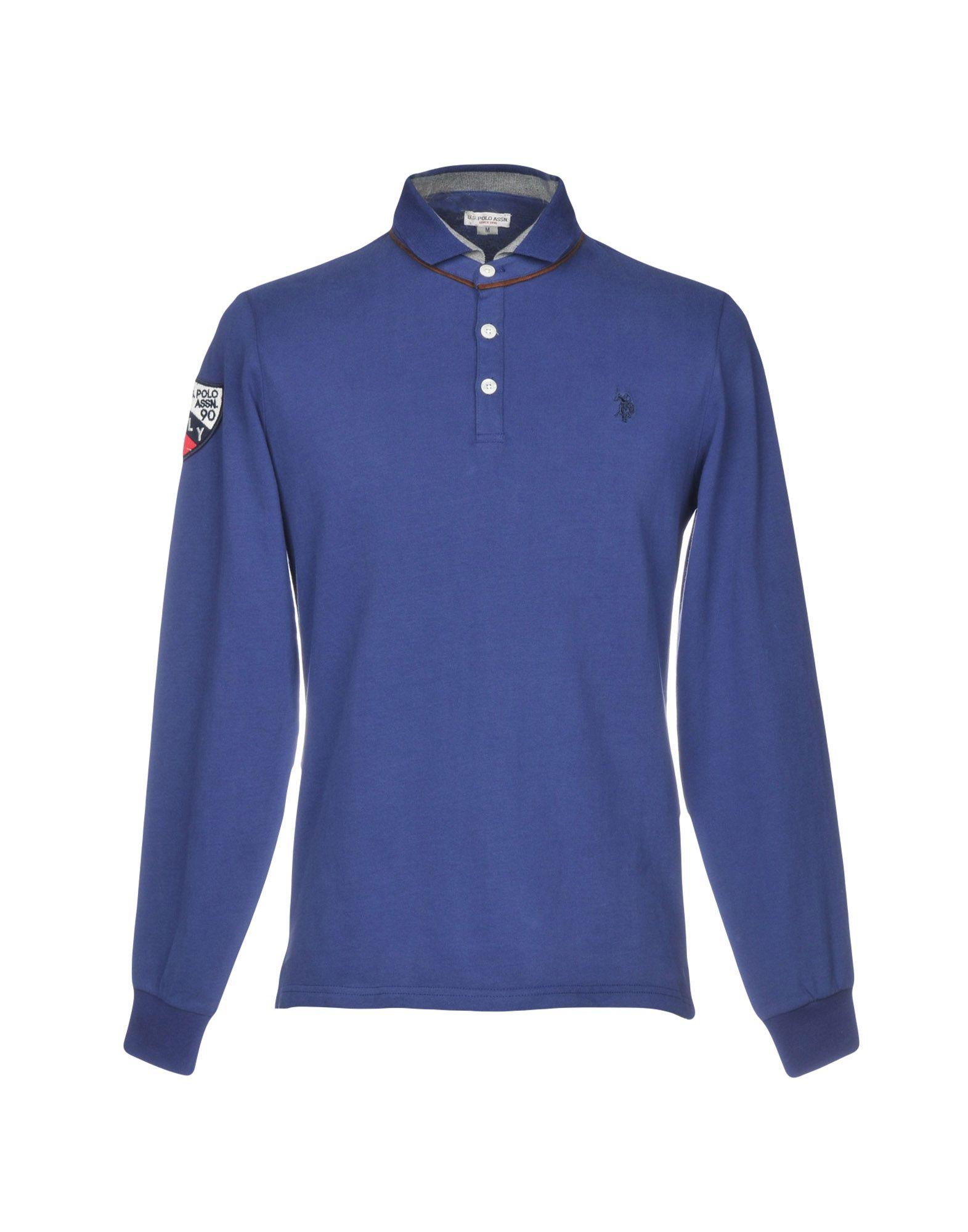 《送料無料》U.S.POLO ASSN. メンズ ポロシャツ ブルー M コットン 100%