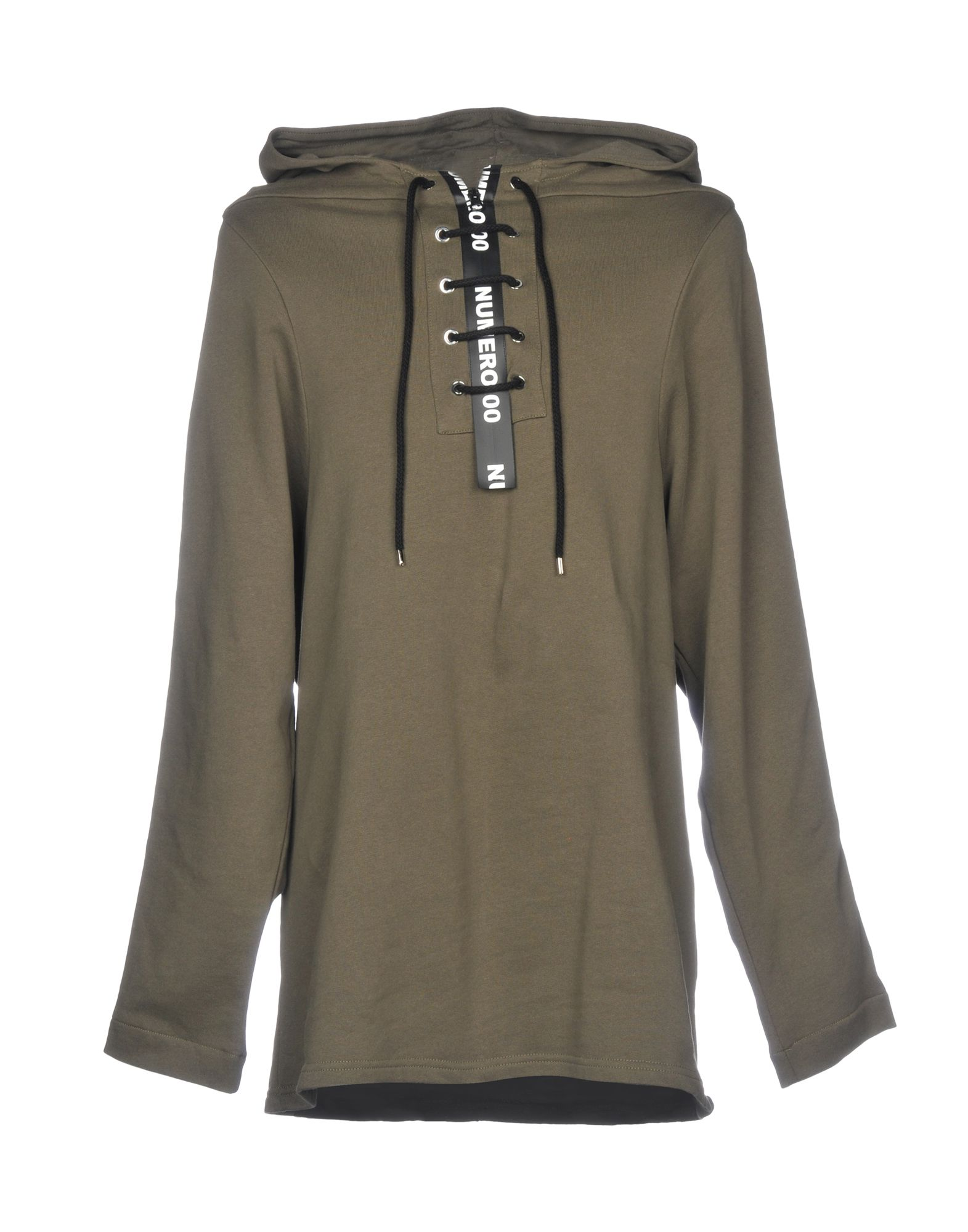 NUMERO00 Hooded Sweatshirt in Military Green