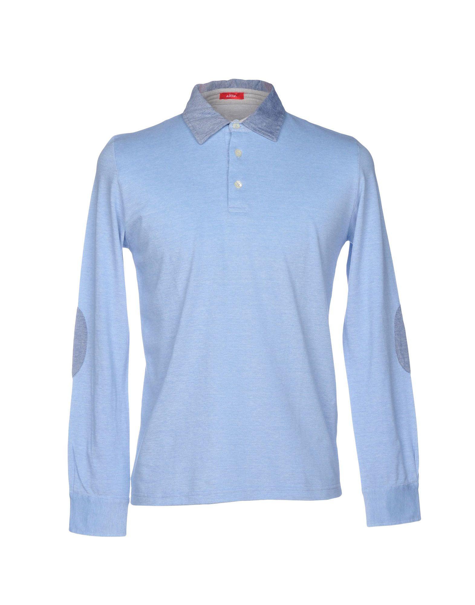 《送料無料》ALTEA メンズ ポロシャツ スカイブルー M コットン 100%