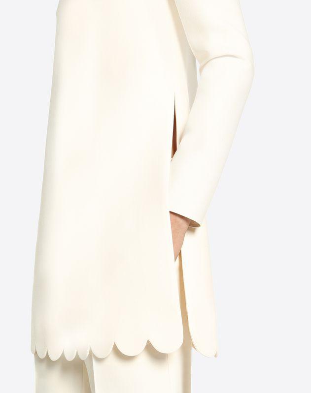 Top festonné en crêpe couture