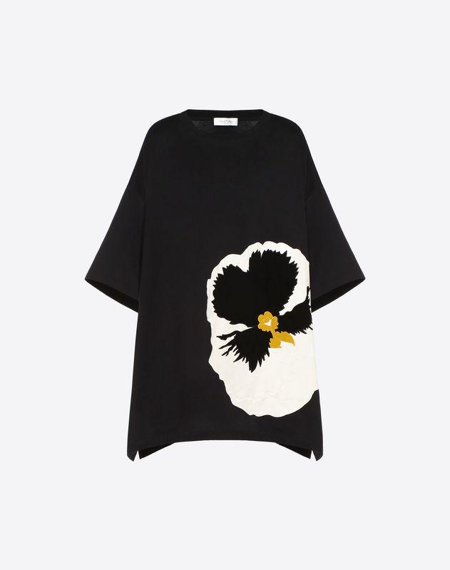 """T-Shirt mit """"Stiefmütterchen""""-Stickerei"""