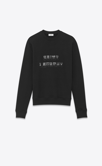 SAINT LAURENT Sportswear Tops Man 70's saint laurent logo sweatshirt a_V4