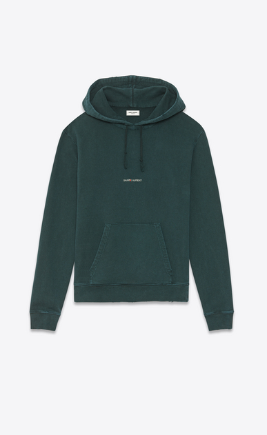 SAINT LAURENT Sportswear Tops Man destroyed saint laurent logo hoodie a_V4