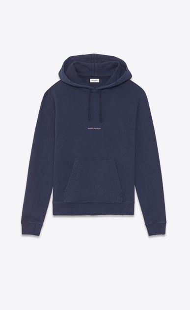 destroyed saint laurent logo hoodie