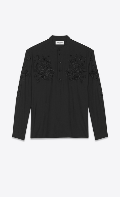 SAINT LAURENT Tunic Man Embroidered and Beaded silk tunic a_V4