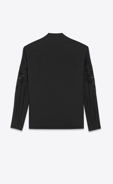 SAINT LAURENT Tunic Man Embroidered and Beaded silk tunic b_V4
