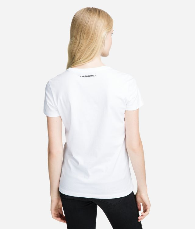 Karl Lagerfeld - T-Shirt mit doppeltem Logo - 2