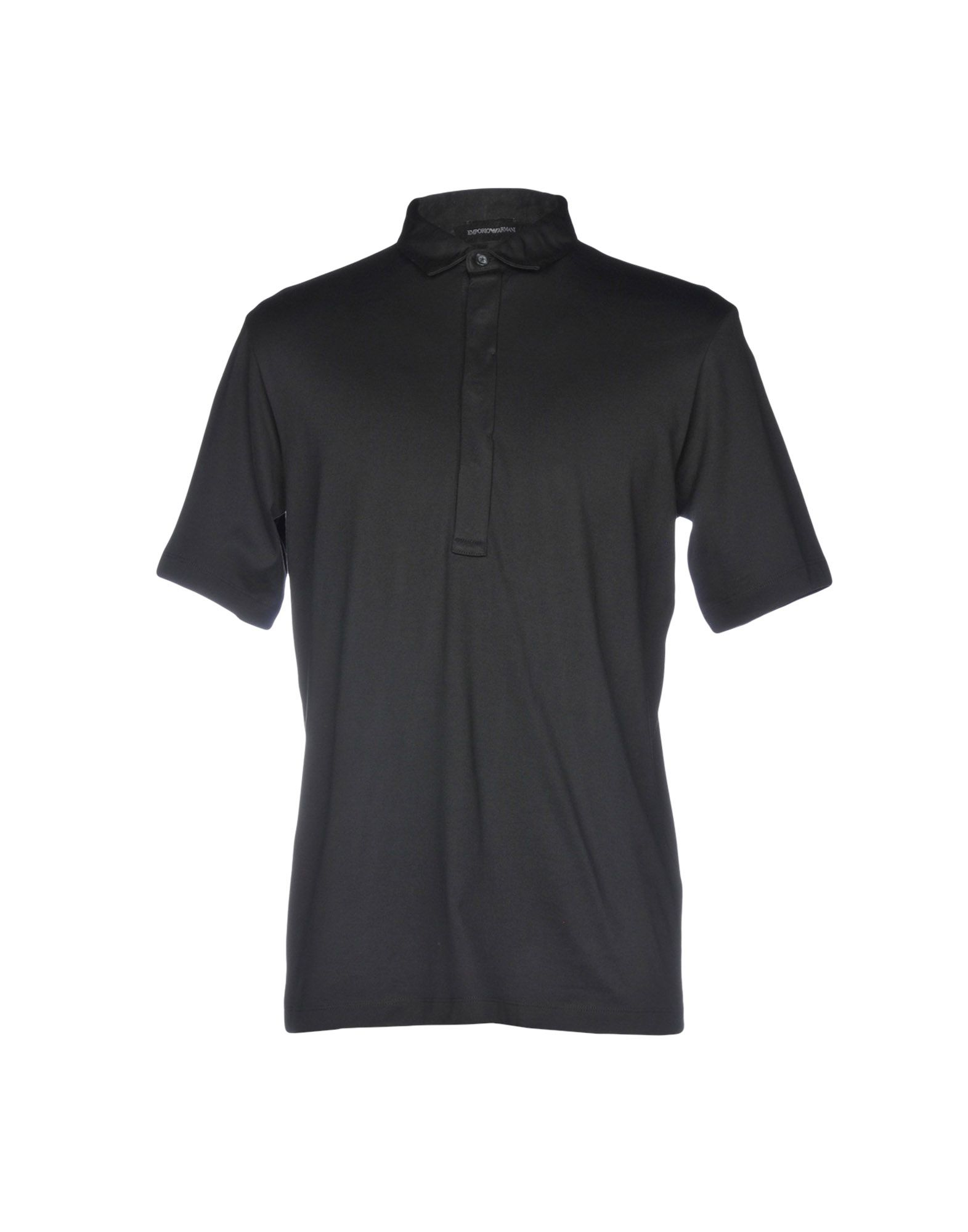 《送料無料》EMPORIO ARMANI メンズ ポロシャツ ブラック S コットン 100%