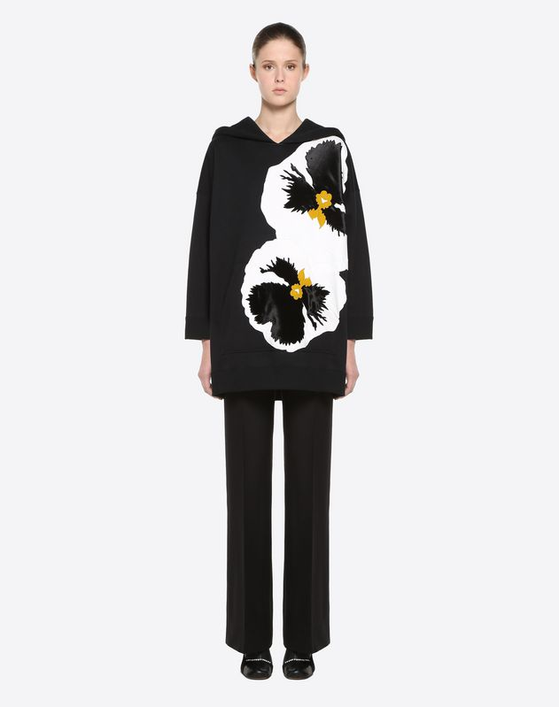 Pansy Embroidered Sweatshirt