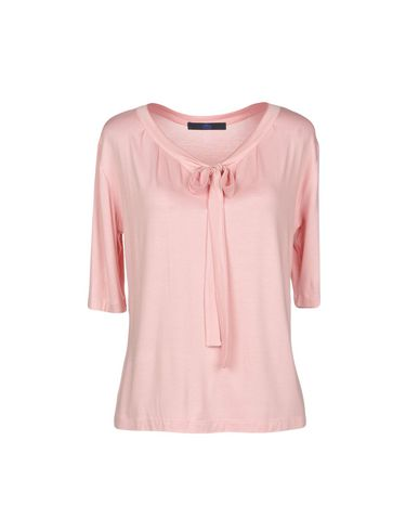 Купить Женскую футболку BLUE LES COPAINS розового цвета