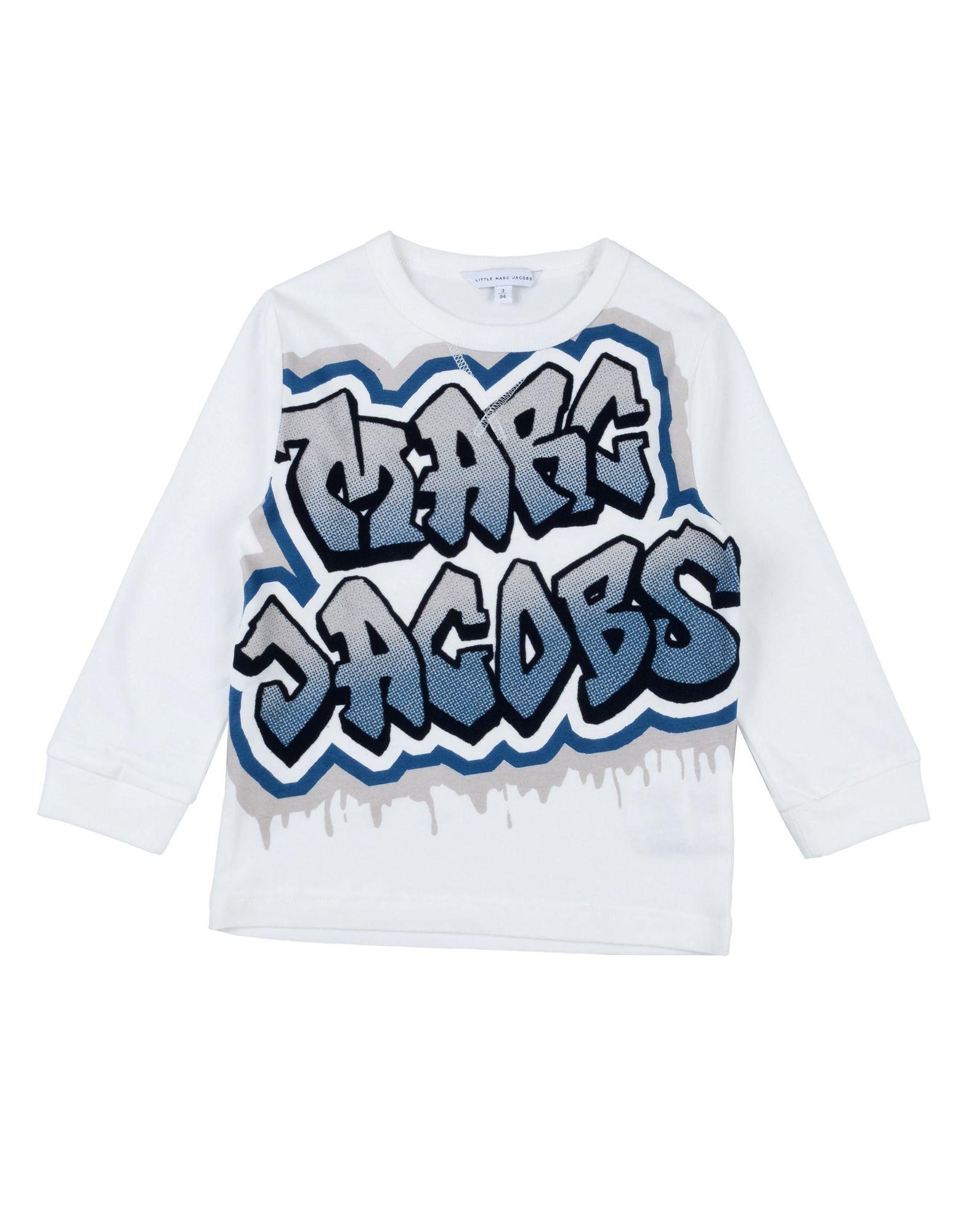 《送料無料》LITTLE MARC JACOBS ボーイズ 3-8 歳 T シャツ ホワイト 3 コットン 100%