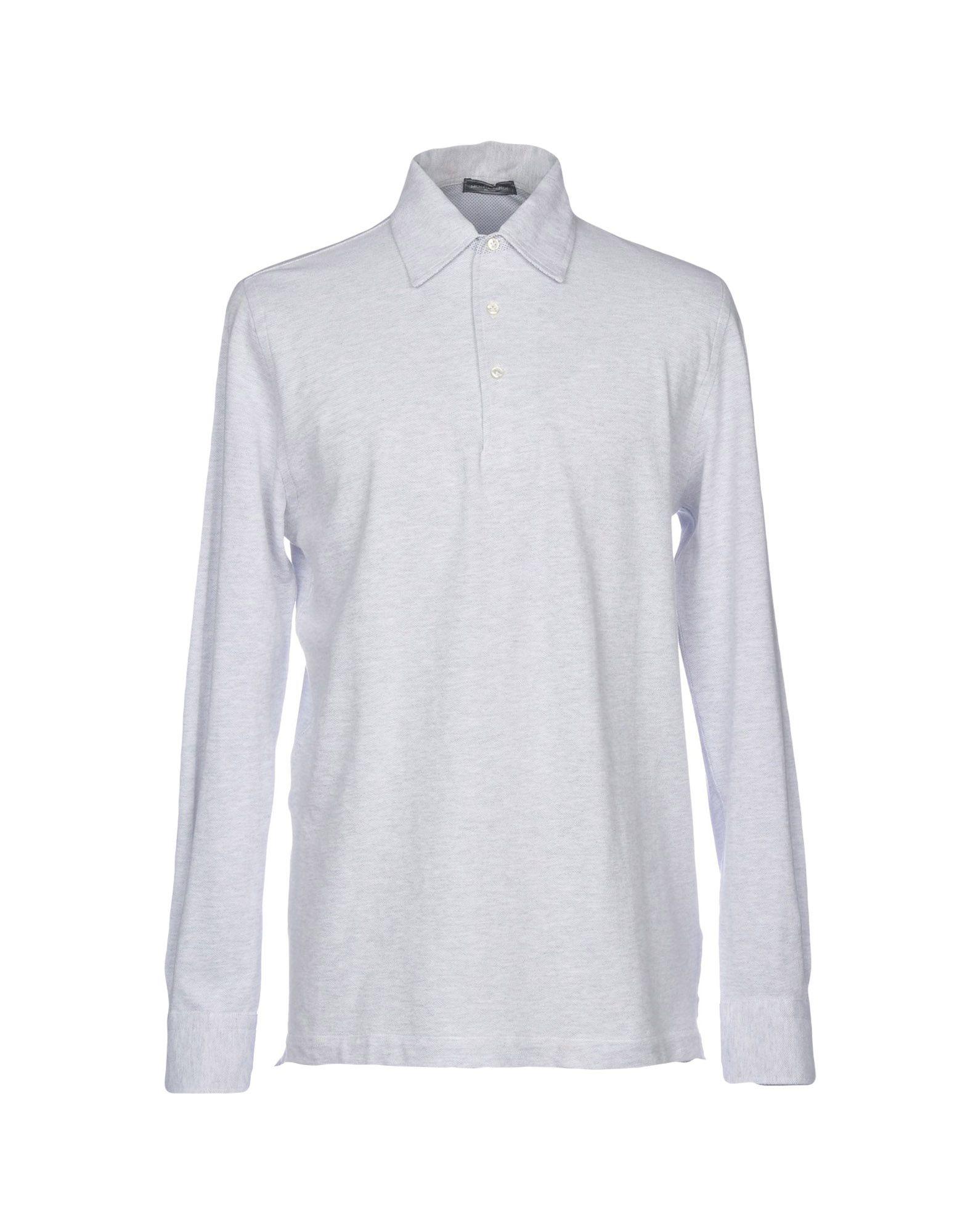 《送料無料》MONTEVERDI メンズ ポロシャツ ライトグレー 3XL コットン 100%