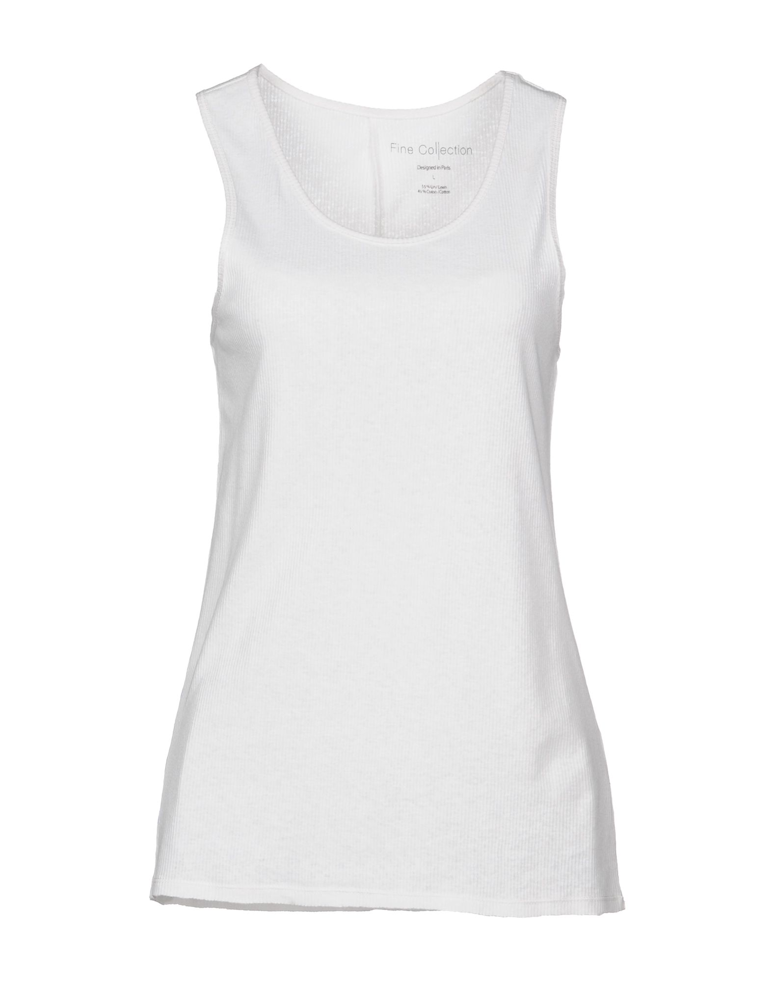 FINE COLLECTION Tank Top in White