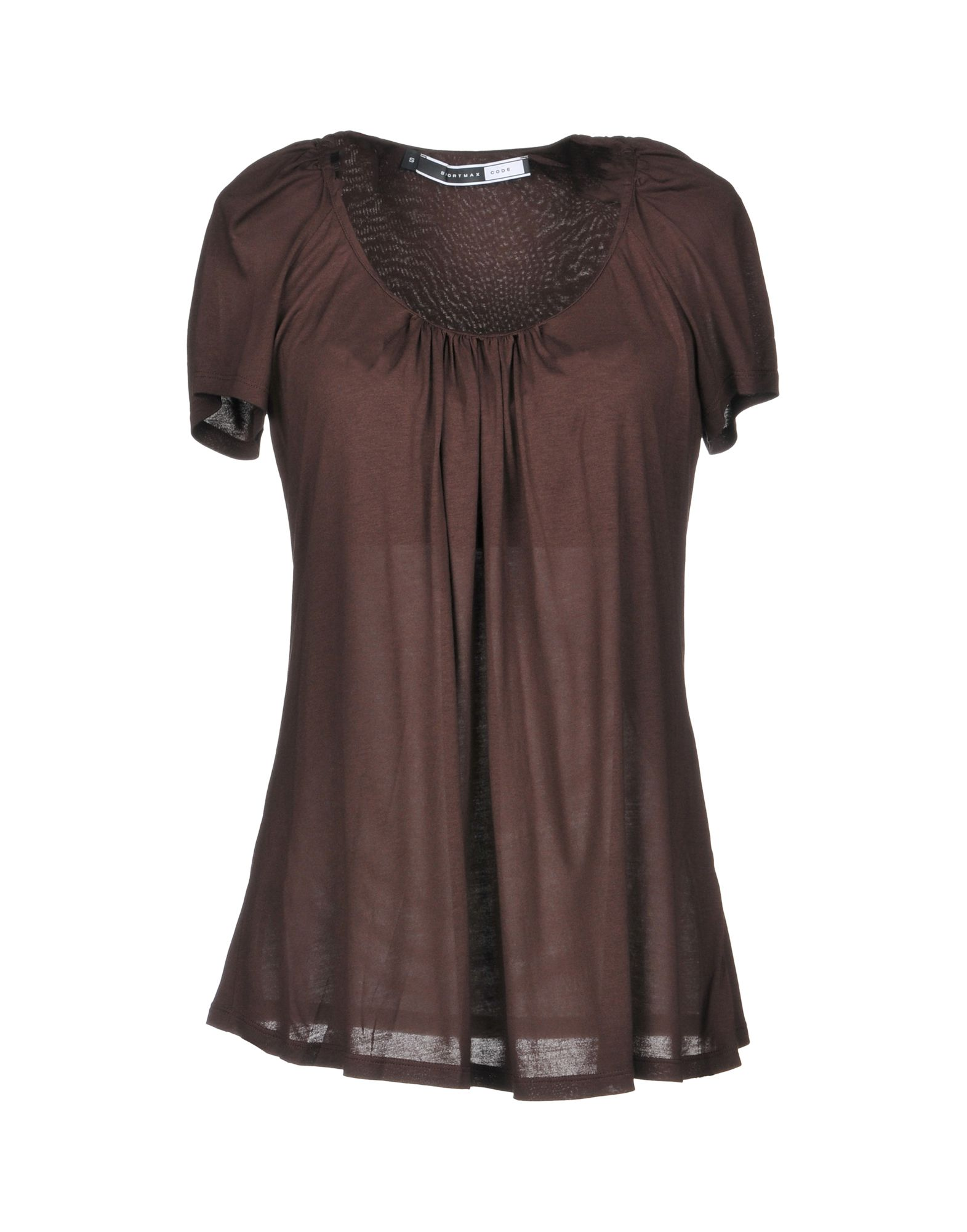SPORTMAX CODE Damen T-shirts Farbe Dunkelbraun Größe 6