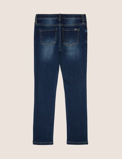 GIRLS SUPER-SKINNY WASHED INDIGO JEAN