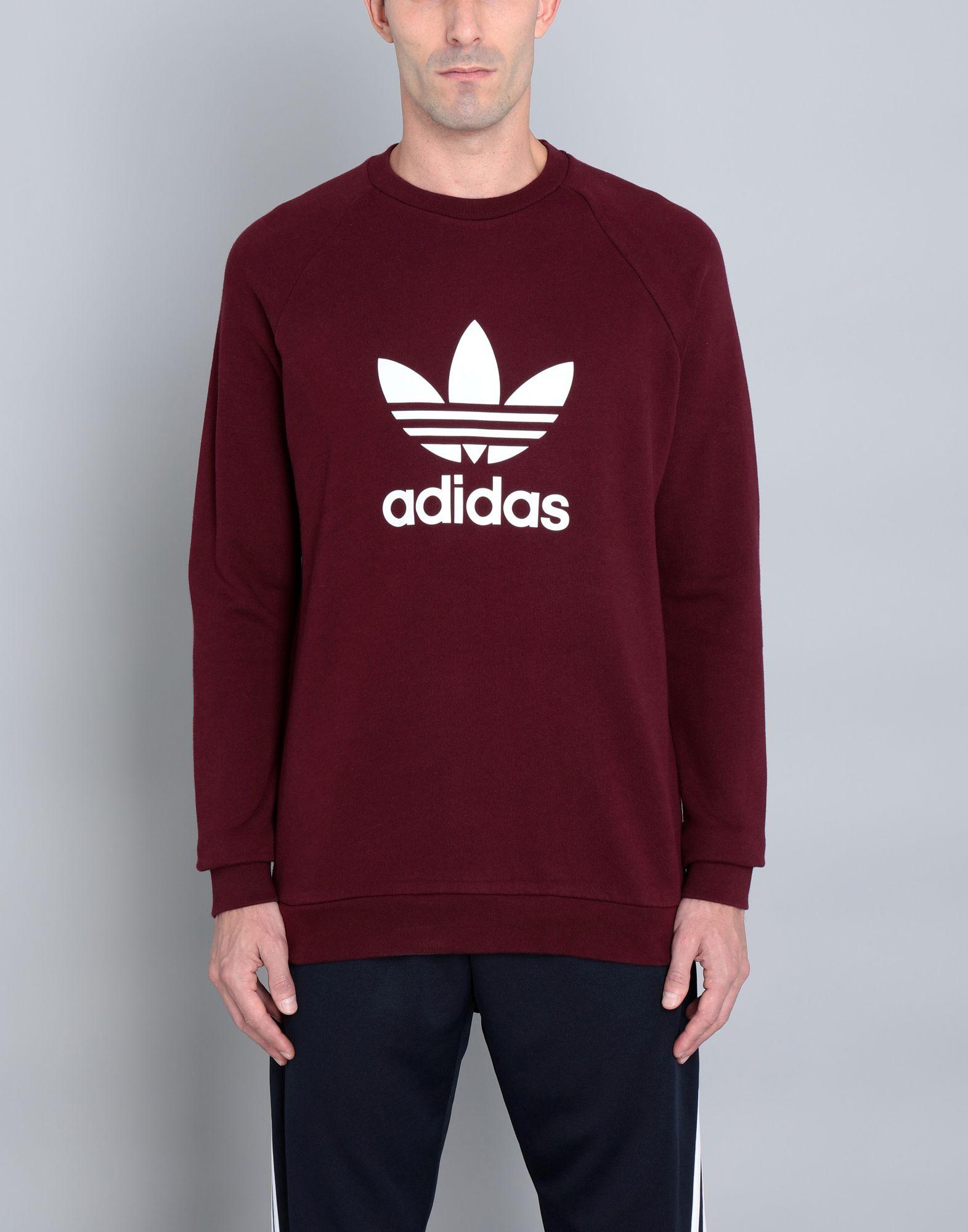 - ADIDAS ORIGINALS Herren Sweatshirt7 bordeaux,rot