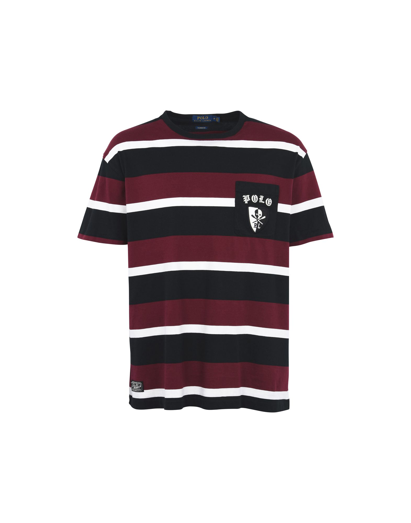 《送料無料》POLO RALPH LAUREN メンズ T シャツ ボルドー S コットン 100% Embroidered T Shirt