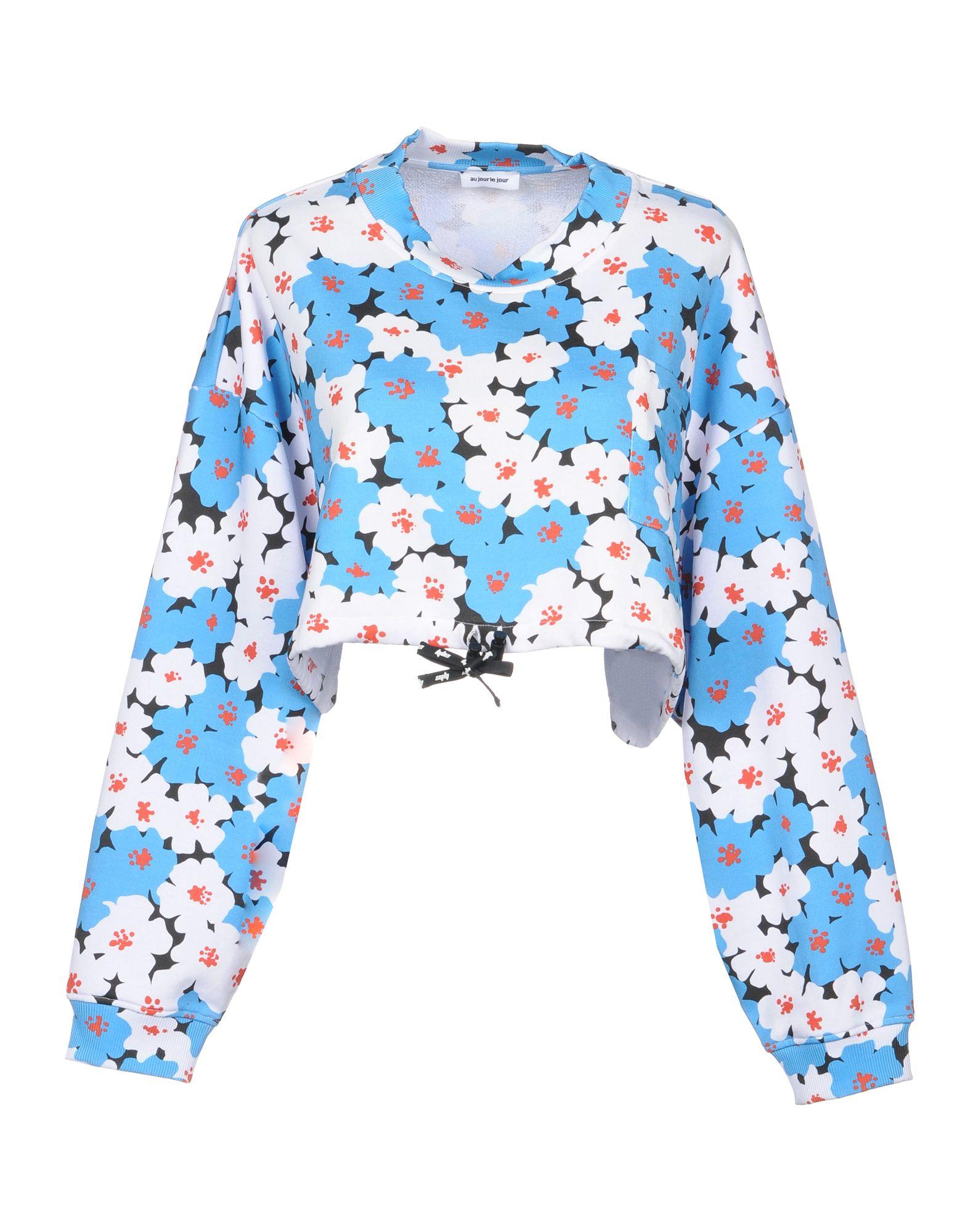AU JOUR LE JOUR Sweatshirt in Azure