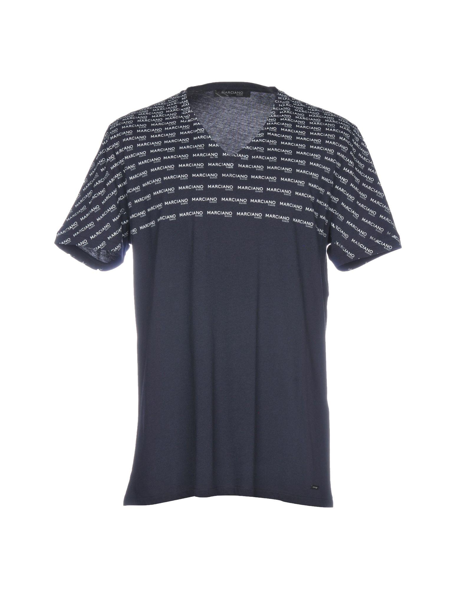 《送料無料》GUESS BY MARCIANO メンズ T シャツ ダークブルー XXL コットン 100%