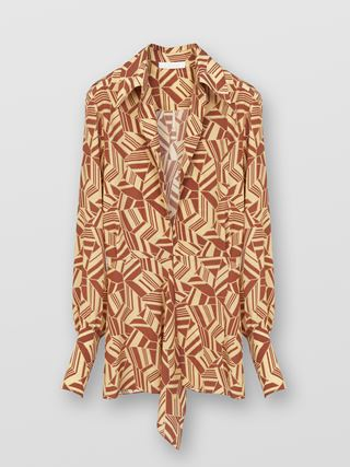 Long V-neck blouse