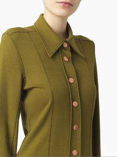 Chemise structurée en jersey milano