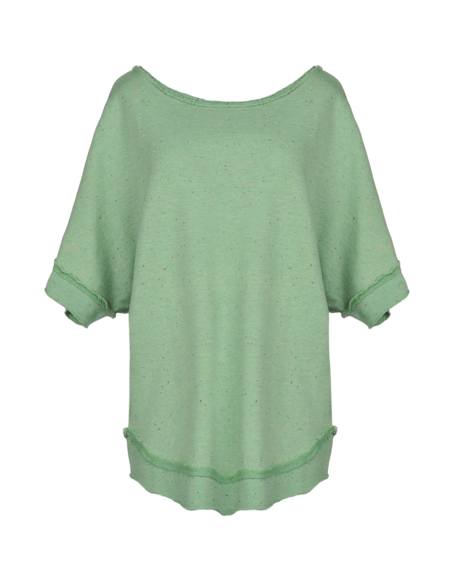 《送料無料》JIJIL レディース スウェットシャツ ライトグリーン 42 コットン 100%