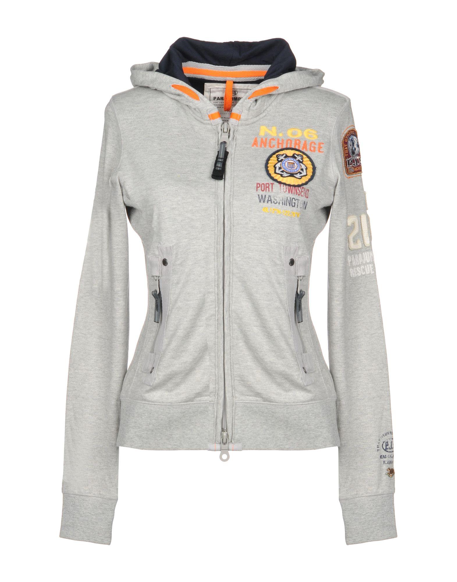 《送料無料》PARAJUMPERS レディース スウェットシャツ グレー XS コットン 100%