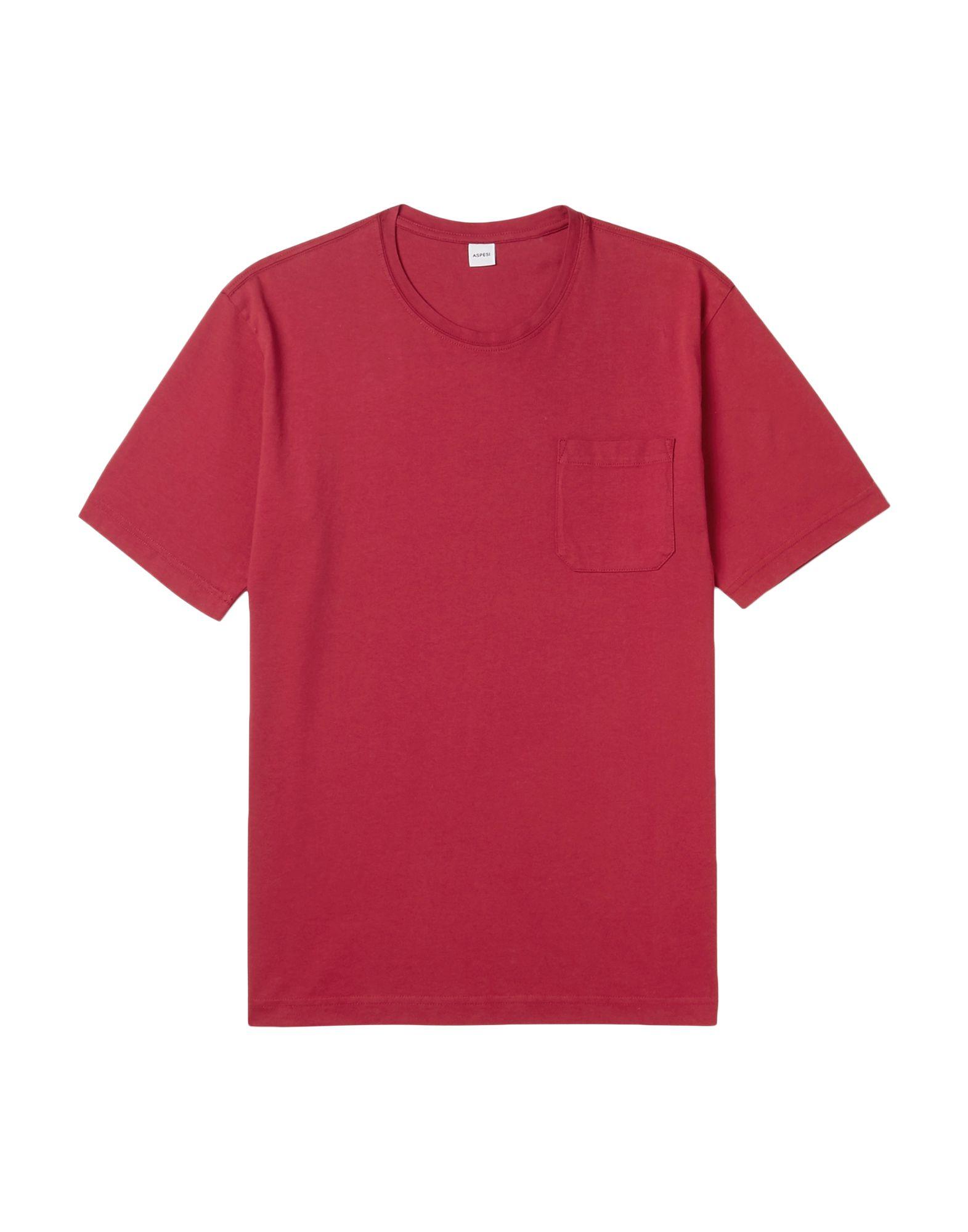 《セール開催中》ASPESI メンズ T シャツ レッド XXL コットン 100%