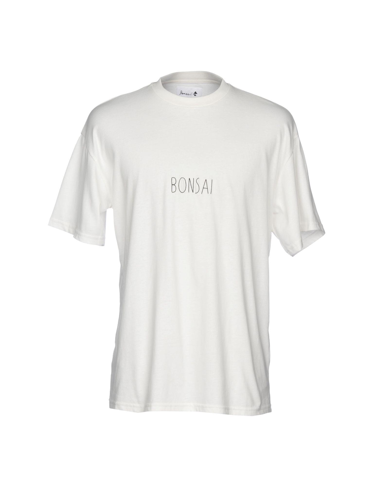 《送料無料》BONSAI メンズ T シャツ アイボリー M コットン 100%