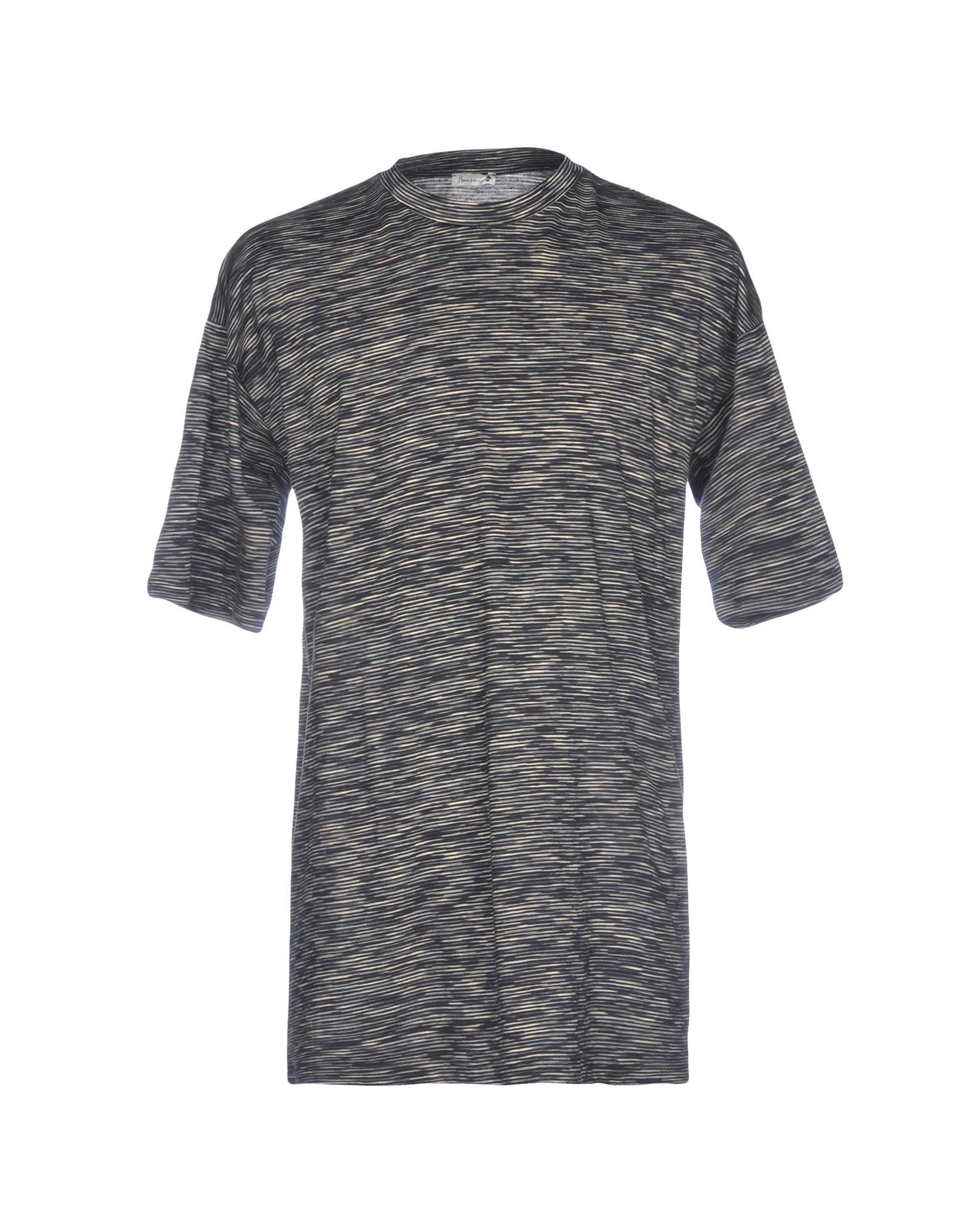 《送料無料》BONSAI メンズ T シャツ ブラック M コットン 100%
