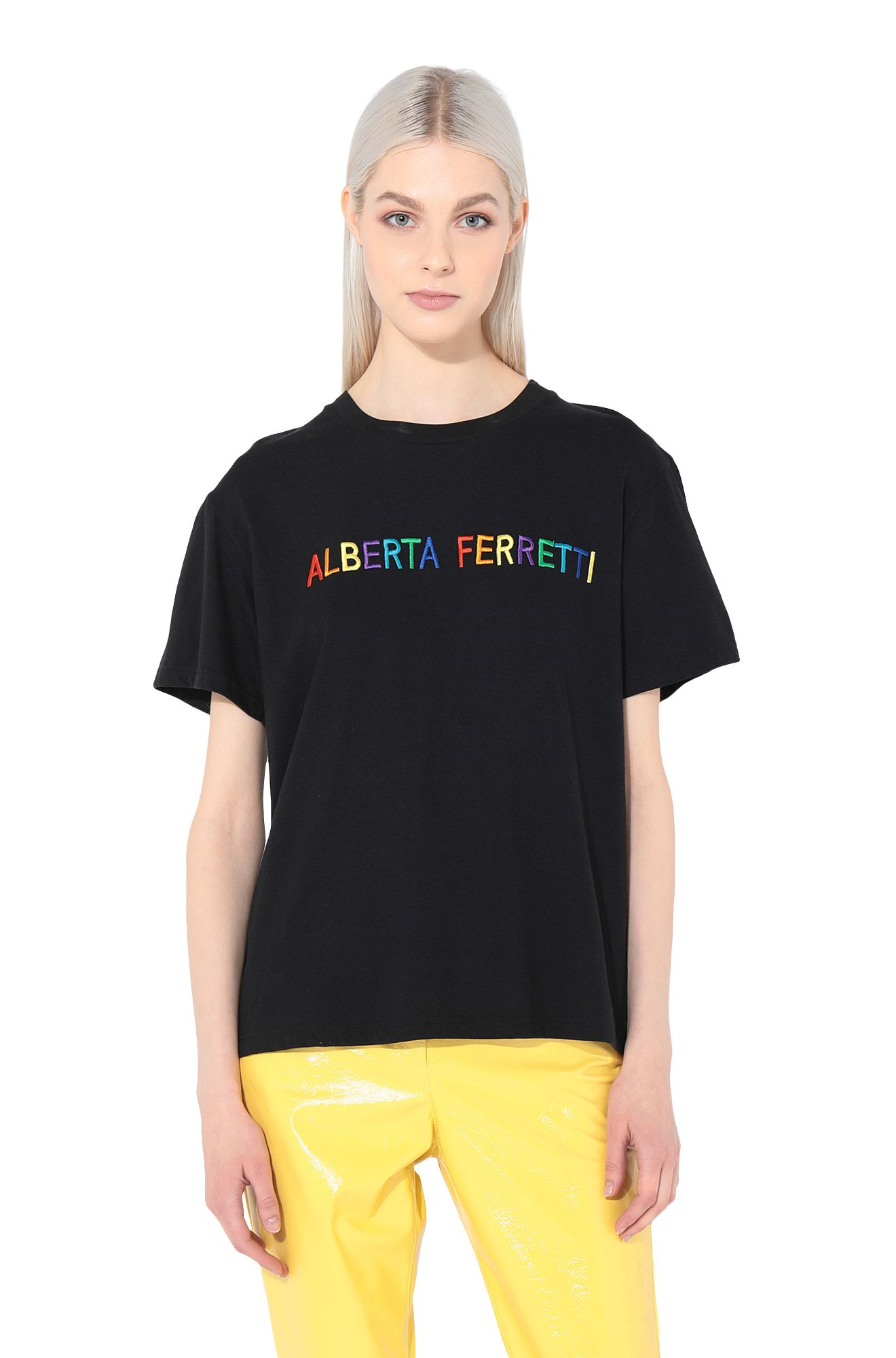 ALBERTA FERRETTI T-shirt Woman T-shirt embroidered with Alitalia logo r