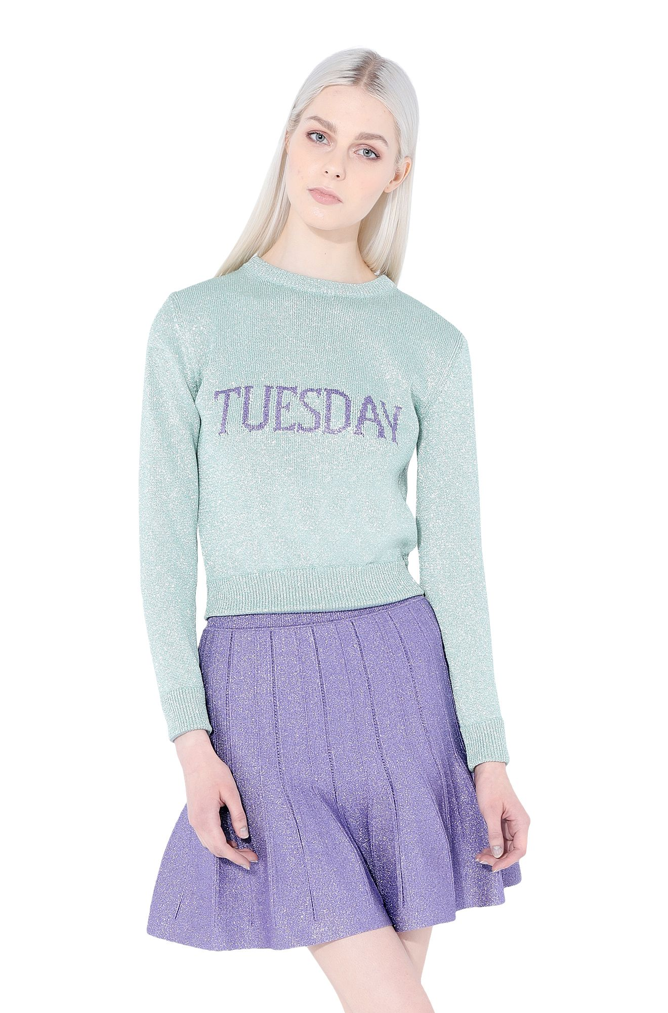 ALBERTA FERRETTI KNITWEAR Woman No season sweater with Alitalia logo r