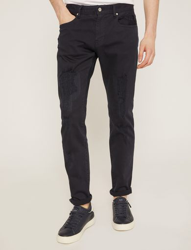 SLIM-FIT OVERSTITCHED JEAN