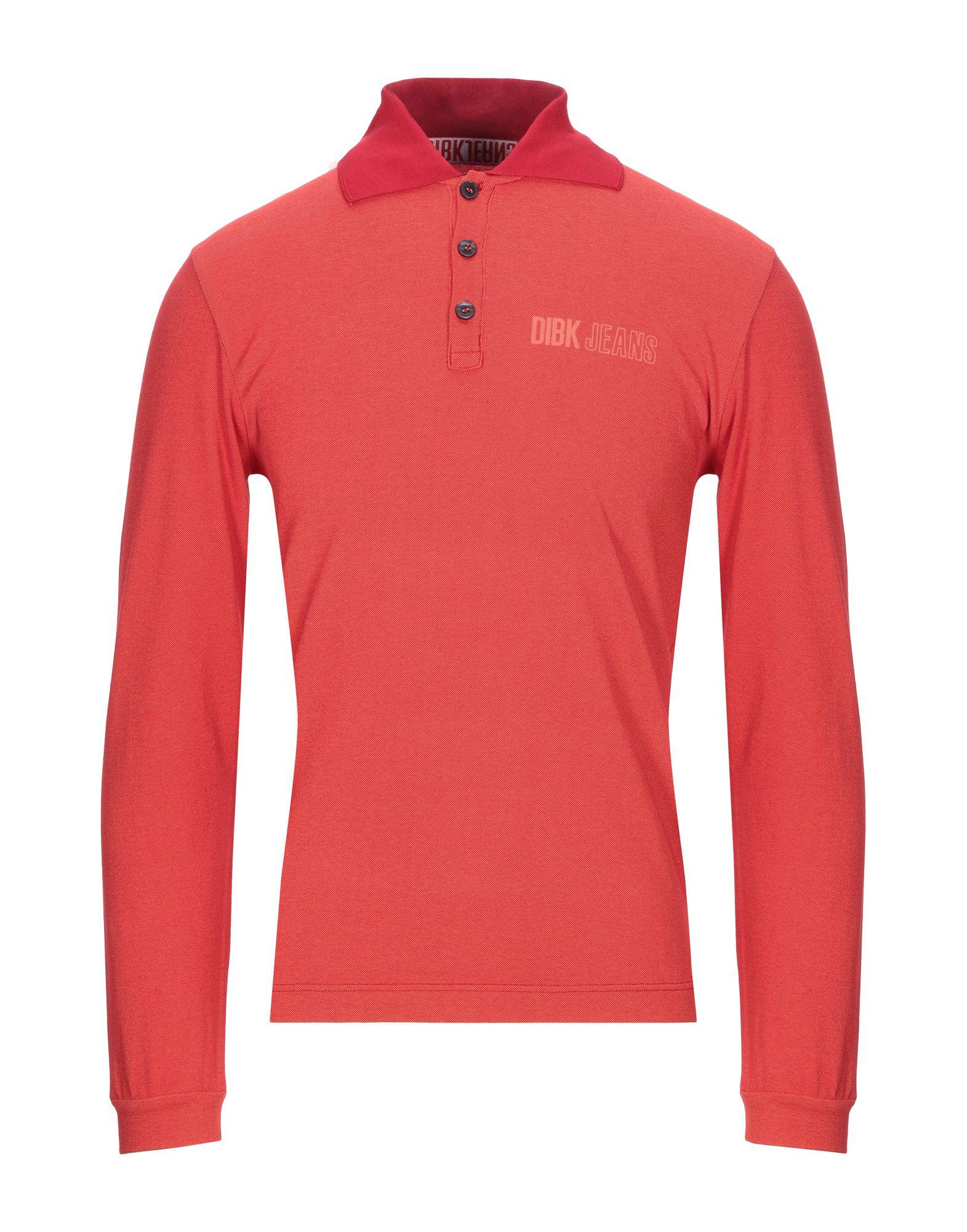 《セール開催中》DIBK JEANS メンズ ポロシャツ オレンジ S コットン 100%