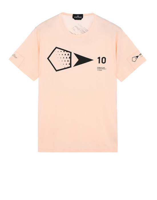STONE ISLAND SHADOW PROJECT Short sleeve t-shirt 20310 PRINTED SS 10 YEARS ANNIVERSARY-T (JERSEY MAKO) GARMENT DYED