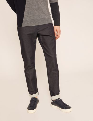 SLIM-FIT SIDE STRIPE DARK INDIGO JEAN