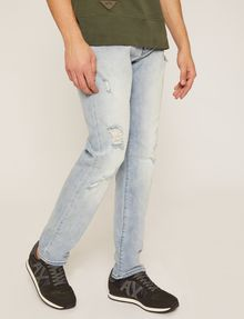 ARMANI EXCHANGE JEANS SLIM FIT INDACO CHIARO CON EFFETTO DISTRESSED Jeans slim [*** pickupInStoreShippingNotGuaranteed_info ***] f
