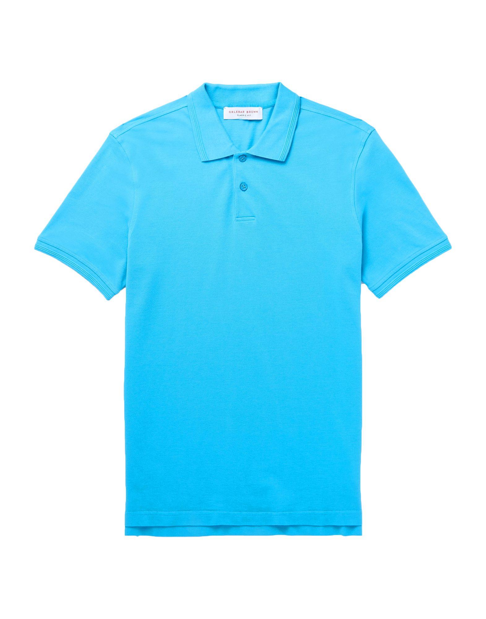 《送料無料》ORLEBAR BROWN メンズ ポロシャツ アジュールブルー S コットン 100%