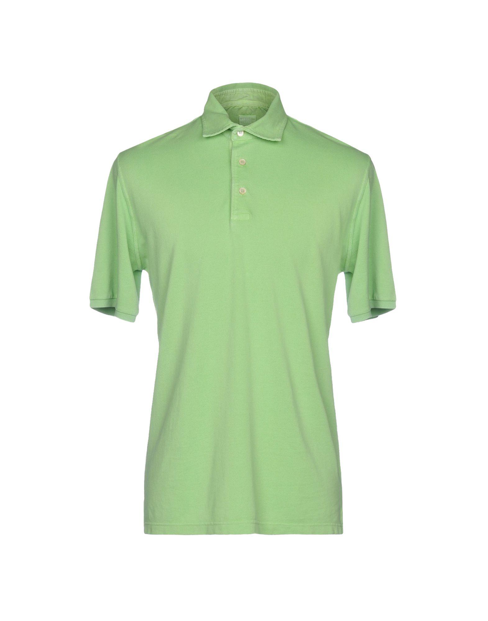 《送料無料》FEDELI メンズ ポロシャツ ライトグリーン 52 コットン 100%